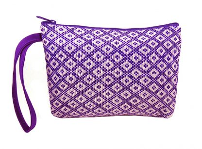 Lahu purse with handle - laithai purple