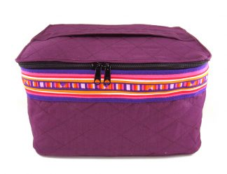 Fair Trade bag - Lisu toiletry bag- mangosteen
