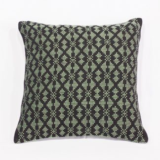 fair trade cushion in olivegreen