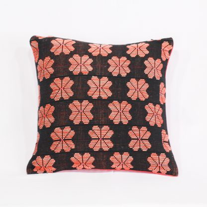 fair trade cushion orange blossom