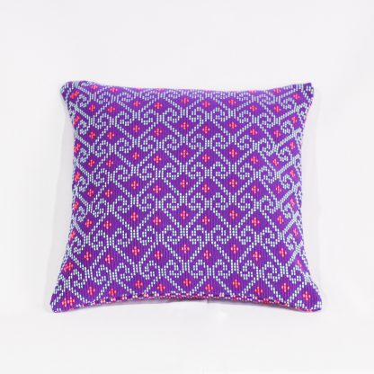 fair trade cushion purple