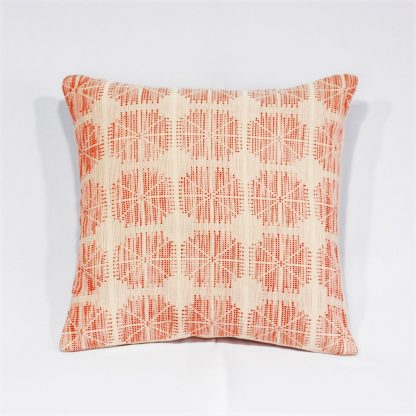 fair trade cushion red dots
