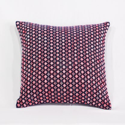 fairtrade cushion cover in pink blossom