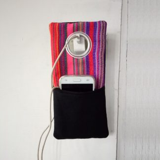 fair trade mobile charger bag