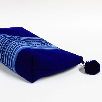 fair trade pouch lisu line blue