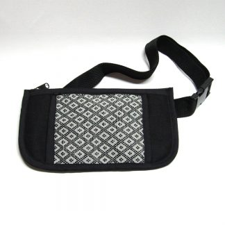 fair trade bumbag Lahu woven fabric