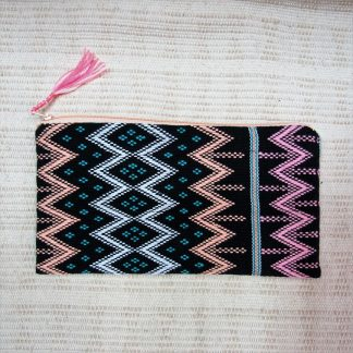 Fair Trade purse made of Karen woven fabric