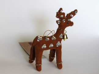Fair Trade ornament standing-Reindeer