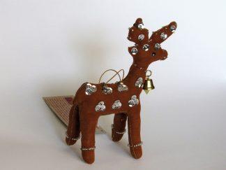 Fair Trade ornament standing-Reindeer