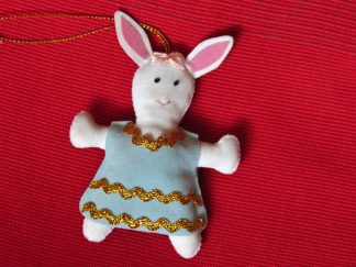 fair trade christmas ornament bunny girl