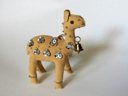 Fair trade christmas ornament standing Camel